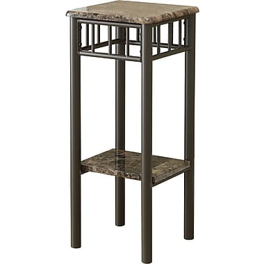 Monarch Metal Accent Table, Cappuccino Marble / Bronze