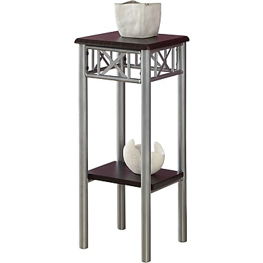 Monarch Metal Accent Table, Cappuccino / Silver
