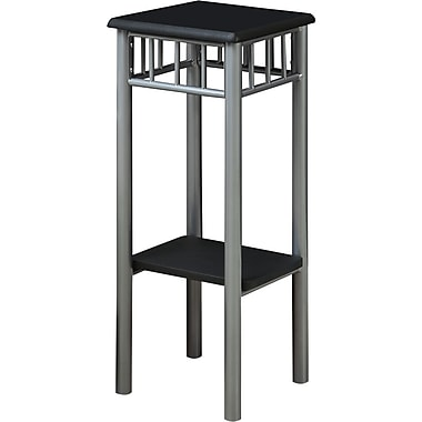 Monarch Metal Accent Table, Black / Silver