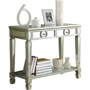 "Monarch Mirrored 38""L Sofa Console Table With 2 Drawers"