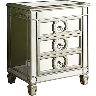 Monarch Mirrored 3 Drawer Accent Table