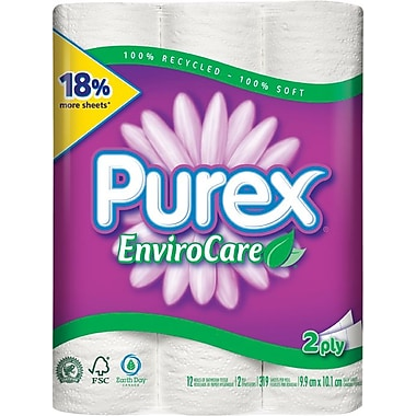 Purex Enviro Care Bathroom Tissue, Double Roll