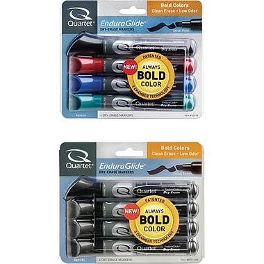 Quartet® EnduraGlide® Dry - Erase Markers, Chisel Tip, 4/Pack