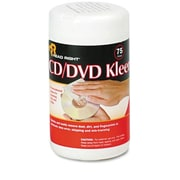 Read Right CD/DVD Kleen, 75 Wipes per Tub