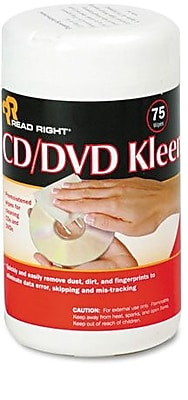 CD/DVD Cleaning Wet Wipes, 75 Count