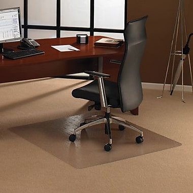 Floortex,1215015019ER, XXL Polycarbonate Chairmat Hard Floor Square, 60