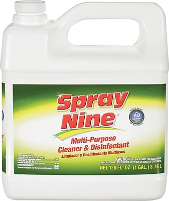 Spray Nine Multi Purpose Cleaner and Disinfectant Refill, Gallon, 4 Bottles/Case