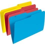 StaplesMD – Chemises de classement au format légal, couleurs variées (rouge/jaune/bleu), paq./25