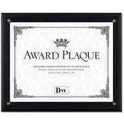 "Dax Award Plaque Acrylic and Wood Frame with Certificate, Black, 8 1/2"" x 11"""
