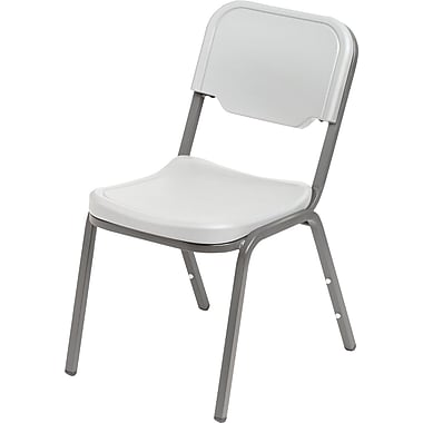 4 Pack Stack Chair, Platinum w/Silver Frame