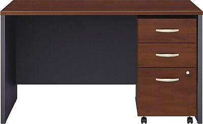 Bush Business Furniture Westfield 48W x 30D Office Desk with Mobile File Cabinet, Hansen Cherry (SRC048HCSU) 12310