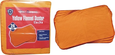 Dirt Defense Flannel duster, yellow, 24 Pack