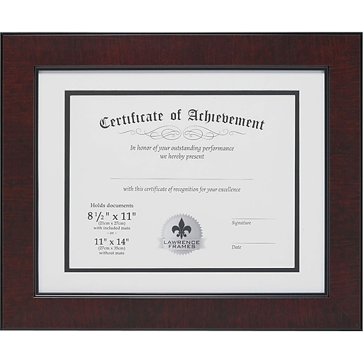 Lawrence Frames Dual Use Faux Burl Certificate Picture Frame ...
