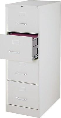 Staples 4 Drawer Vertical File, Light Gray,Letter/Legal, 18''W (25167D-CC)