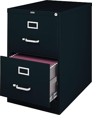 Staples 2 Drawer Vertical File, Black,Legal, 15''W
