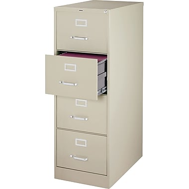 Staples Branded 4 Drawer Vertical File, Putty/Beige,Legal, 18''W