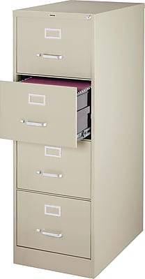 Staples 4 Drawer Vertical File, Putty/Beige,Legal, 18''W