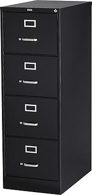 Staples 4 Drawer Vertical File, Black,Legal, 18''W (25166D-CC)