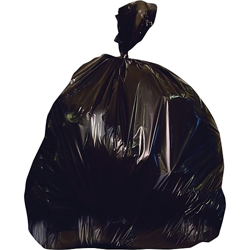 Heritage Accufit 32 Gallon Trash Bags, 33x44, Low Density, 1.3 Mil, Black, 100 CT, 5 rolls of 20 bags per roll (H6644PK R01)