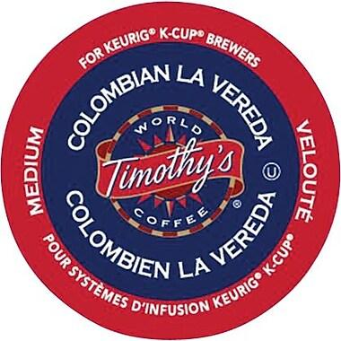 Keurig® Timothy's® Colombian La Vereda, 24/Pack