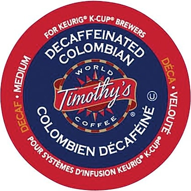 Keurig® Timothy's® Decaffeinated Colombian, 24/Pack