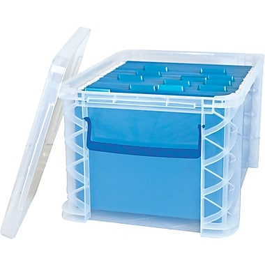 Advantus Super Stacker File Box, Clear, 11 1/4