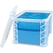 "Advantus Super Stacker File Box, Clear, 11 1/4""H x 14 1/4"" W x 17 3/4""L"