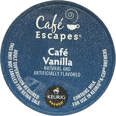 Keurig K-Cup Cafe Escapes Cafe Vanilla Coffee, 24 Count 34921