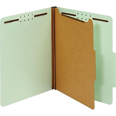 Globe-Weis® Classification Folders, 2/5-Cut Top Tab, 1 Divider, 10/Box (23776)