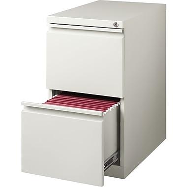 Staples 2-Drawer Mobile Pedestal File Cabinet, Light Grey (20-Inch)