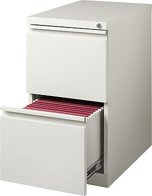 Staples 2-Drawer Vertical File Cabinet, Locking, Letter, Gray, 19.88