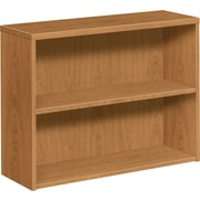 "HON 10500 Series Bookcase, 2 Shelves, 36""W, Harvest Finish"