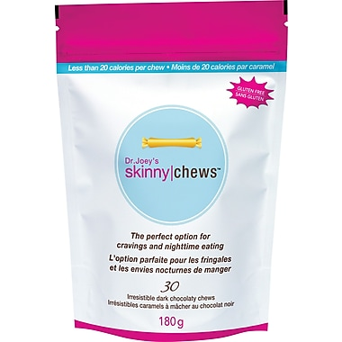 Dr. Joey – Caramels à mâcher au chocolat noir Skinny Chews™, 180 g