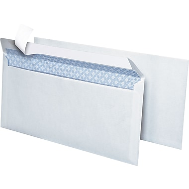 Simply QuickStrip Security-Tint Lightweight #10 Envelopes, 4-1/8