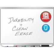Quartet® Prestige® 2 DuraMax® Porcelain Magnetic Whiteboard, 3' x 2', Aluminum Frame (P553AP2)