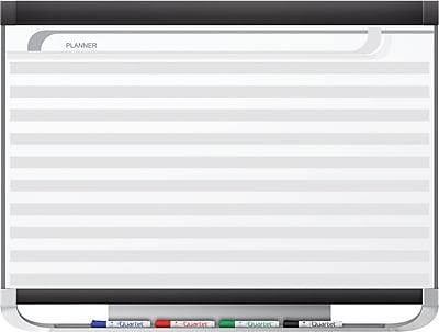 Quartet Prestige® 2 Magnetic Porcelain Planning System, Horizontal Lines, 4' x 3'