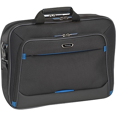 SOLO® Tech Laptop Briefcase, Black/Blue, 16