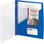 "Smead Clear Front Poly Report Cover With Tang Fasteners, 8 1/2"" x 11"", Blue, 5/Pack (86011)"