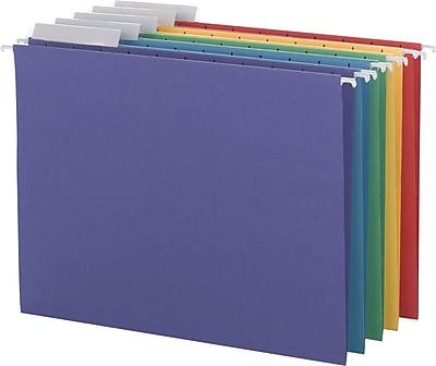 Smead Color Hanging Folders with 1/3-Cut Tabs, 11 Pt. Stock, Assorted Colors, 25/BX