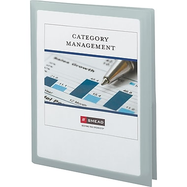 Frame View Poly Two-Pocket Folder, 8-1/2 x 11, Oyster, 5/Pack