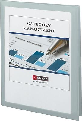 Smead® Frame View 2-Pocket Folder, Letter Size, Oyster, 5/Pack (87706)