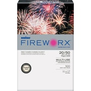 "FIREWORX Colored Paper, 20lb, 11"" x 17"", Flashing Ivory, 500 Sheets/Ream"