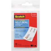 Self-Sealing Laminating Pouches, 9 mil, 3 4/5 x 2 2/5, Business Card Size, 10/Pa