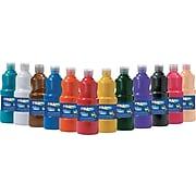 Prang® (Dixon Ticonderoga®) Washable Ready-to-Use Paint, Assorted Colors, 12/Set, 16 oz.