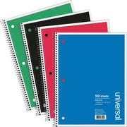 DN PUSH Wirebound Notebook, 8 x 10-1/2, Wide Ruled, 70 Sheets, Assorted Color Cover
