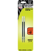 Zebra® G-301® Retractable Pen Refills, Black, 2/Pack