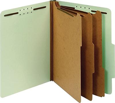 Globe-Weis® Classification Folders, 2/5-Cut Top Tab, 3 Dividers, 10/Box (24091GW)