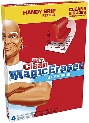 Mr. Clean® Magic Eraser Handy-Grip All Purpose Refill Pads, 4/Pack