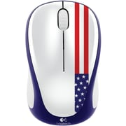 Logitech M317 Wireless Optical Mouse, Ambidextrous, American Flag (910-004020)