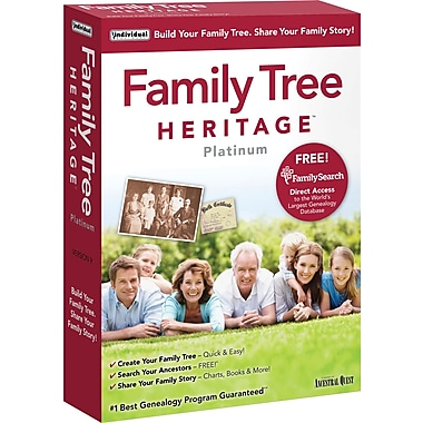Logiciel Family Tree Heritage™ Platinum 9, bilingue